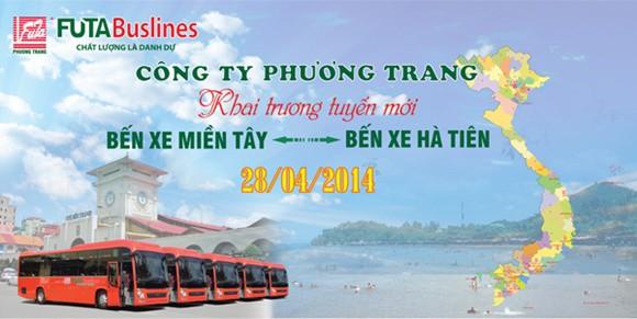 Xe Phương Trang Hà Tiên - Hồ Chí Minh (Sài Gòn)